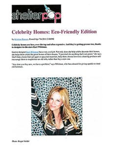 Celebrity Homes: Eco-Friendly Edition
