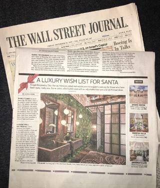 Wall Street Journal Kari Whitman Interior Design